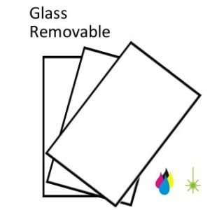 Glass peelable