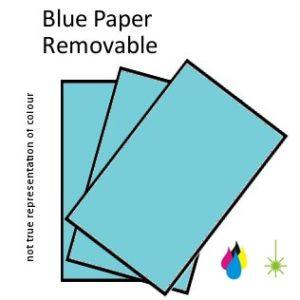 Blue Paper Peel