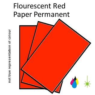 Flouro Red Paper