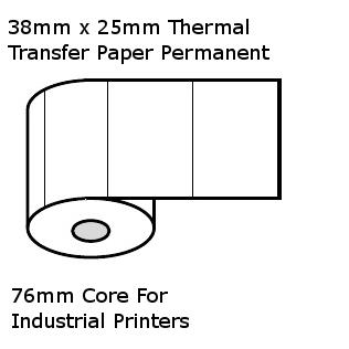 38 x 25mm TT 76mm core